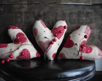 Primitive Valentine's Day Heart Ornie Bowl Fillers