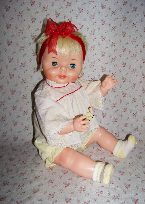 Cute Vintage Girl Baby Boo Doll By Deluxe Reading Company 1965