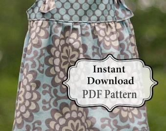 Apron Knot Dress Sewing PDF Pattern Sizes 3m - Girls 8 INSTANT DOWNLOAD