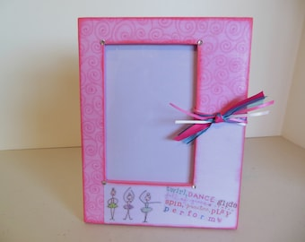 4 x 6 girls Ballet/Dance Picture Frame / Ready To Ship