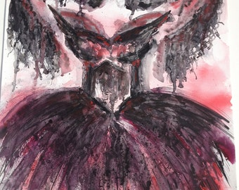 Dark Angel Watercolor