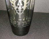 Donkey kong , Zelda and space invaders Glass cup's etched to go