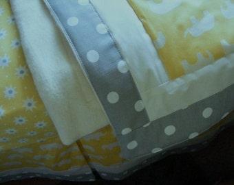 Baby Bedding Crib Stroller Blanket Quilt  cotton organic fleece any fabrics