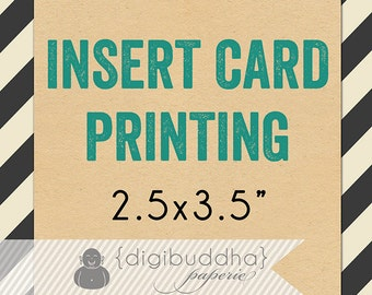 """INSERT CARD PRINTING for any digibuddha coordinating insert. 2.5x3.5"""" Directions Stock the Library Bridal Baby Shower Recipe Instructions"""