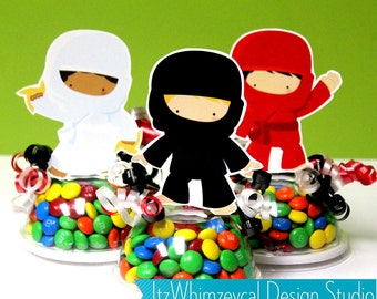 Ninja Birthday Party | Ninja Party Favors | Karate Party Favors | Candy Container | Party Favor Boxes | Kids Favors | Gifts | Centerpieces