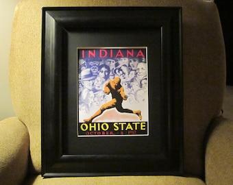 Vintage 1932 Indiana-Ohio State football program print