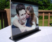 Wedding guestbook photo puzzle with double sided display case or frame. 35 piece puzzle