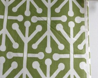 Aruba Feliz in Green / Natural Home Decor Weight Fabric from Premier Prints - ONE HALF YARD