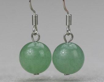Jade stone simple drop earrings Bridesmaid gifts Free US Shipping handmade Anni designs