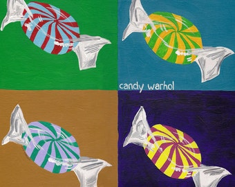 Candy Warhol // Warhol pun art print
