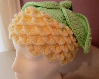 Children's fun flower bud handmade crocheted hat, cloche, beanie.
