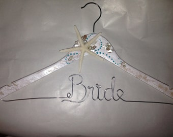 THE ORIGINAL Beach wedding hanger, wedding dress hanger