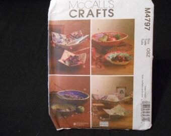 McCalls 4797, fabric bowls
