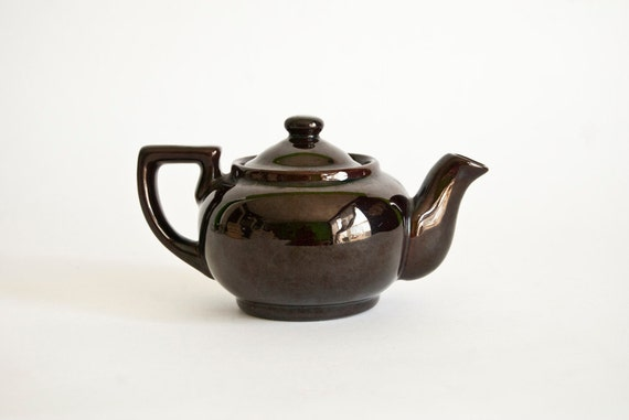 how to clean vintage brass painted teapot