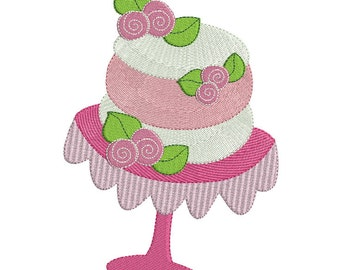 Embroidery design machine wedding cake instant download