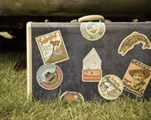 Vintage Travel Suitcase - Digital Print