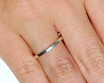 Silver Ring - Argentium Sterling Silver - Hammered Ring - Handmade - Band