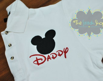 Men's Mickey Appliqued and Monogrammed Polo Shirt