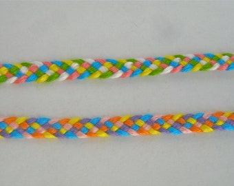 Friendship Bracelet 2-Pack - Bright Colored Big Band Weave