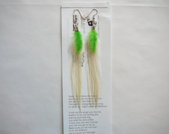 White Feather Earings .......Accents to your Feather Hair Extension By The MyCollection2