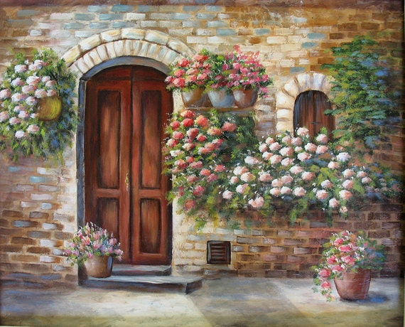 Like this item? & TUSCAN DOOR an original acrylic painting
