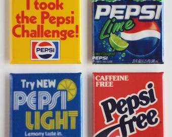 Pepsi Label Fridge Magnet Set