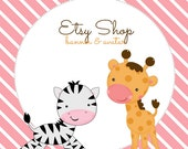 Baby Animals ETSY LOGO with FREE matching avatar