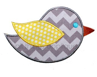 Sitting Bird Applique Design - All Things Applique - INSTANT DOWNLOAD