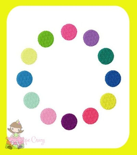 Circle Frame Embroidery file