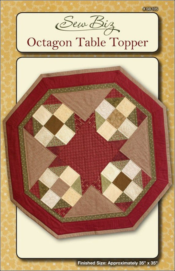 Octagon Quilting Templates : Pattern Octagon Table Topper by Sew Biz