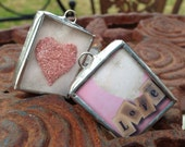 Vintage Love Shadowbox Reversible Soldered Charm
