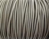 1.5mm Taupe Beige Genuine Leather Cord Round Beach - 2 Yard Increments