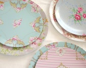 Shabby Chic, Set of 4, Melamine Plate, 8 inch