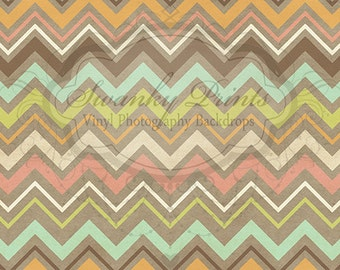 NEW ITEM 7ft x 5ft Pastel Chevron / Zig Zag Patter /  Vinyl Photography Backdrop