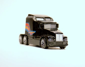 Vintage Toys, Toy Cars, Hot Wheels, 1988 Black 76 Big Rig