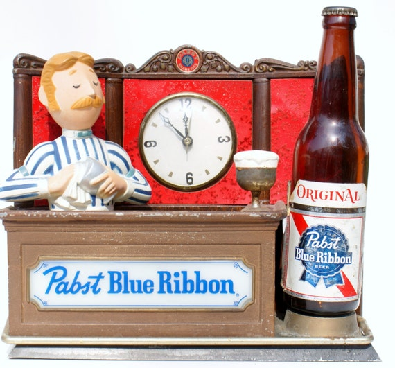Vintage Beer Sign Pabst Bartender Sign Beer Advertising