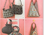 2010 Simplicity UNCUT Hoodies Collection Handbag and Tote Pattern