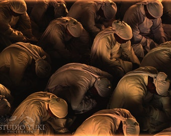 Vietnam Photo, Travel Photography, Asia, Fine Art Print, Praying Men, Devotion, Temple, Religion, Religious Wall Art, Large Wall Decor, Pray