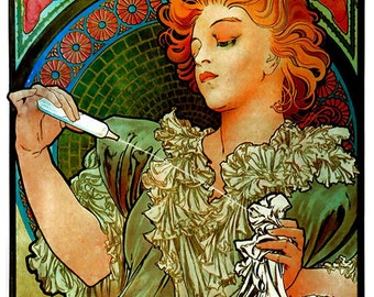 Antique Advertising Print Digital Download File Alphonse Mucha
