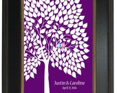 An Interactive Art Print - 183 guest sign in 20x30, FINGERPRINT GUEST TREE, Unique Wedding Guest Book, Sugar Vine Art, num.126