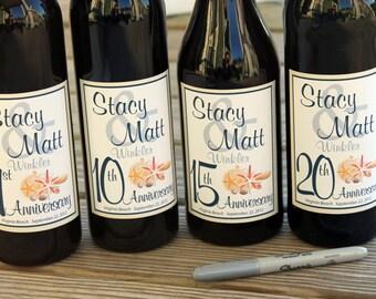 Beach Wine Labels Wedding Guest Book, Beach wine labels, WINE LABELS WEDDING, spring wedding Wine label guest book, Guestbook Wine Labels