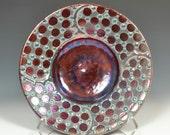 Small Fine Art Raku Pottery Bowl with Dots by John Turner