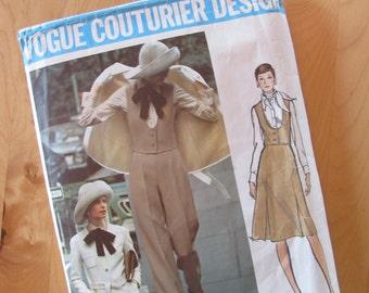 Vintage Vogue Couturier Design 2657 - Valentino - Misses Jacket, Pants, Skirt and Vest  -  Size 10