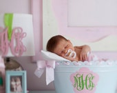 Personalized Metal Enamel Oval Tub For Baby Nursery