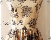 Summer Dress Vintage Inspired Fairy Tale Dress Cottage City Halter Neck Style Gold Beige Dress Beige Sundress Tea Party Dress- XS-XL,CUSTOM-