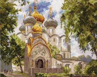 Instant Download Counted Cross Stitch PDF Pattern N10LD - Moscow Novodevichy Convent