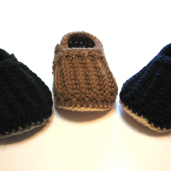 Baby boy loafers Crochet baby boy shoes Made to order in