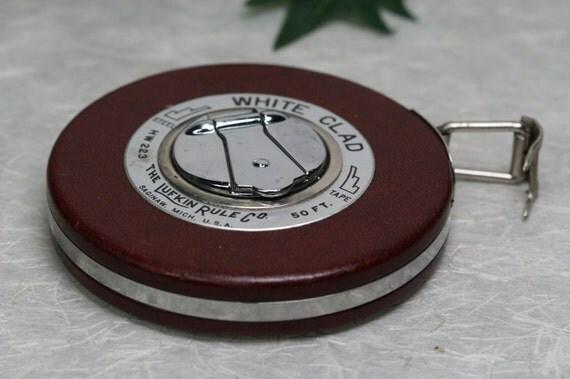 Vintage Lufkin White Clad Tape Measure