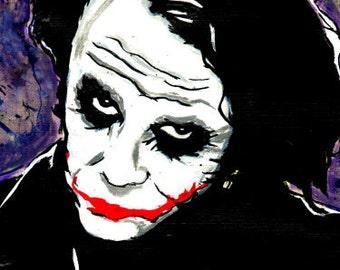 The Joker (Heath Ledger) Archival Art Print