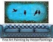Canvas Art Handmade bird painting modern art large modern painting abstract modern painting original art